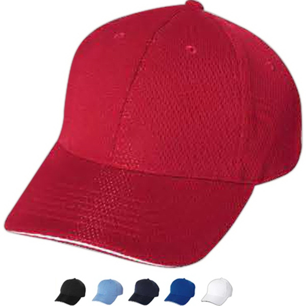Printed Mega Cap 6 Panel Athletic Mesh Cap
