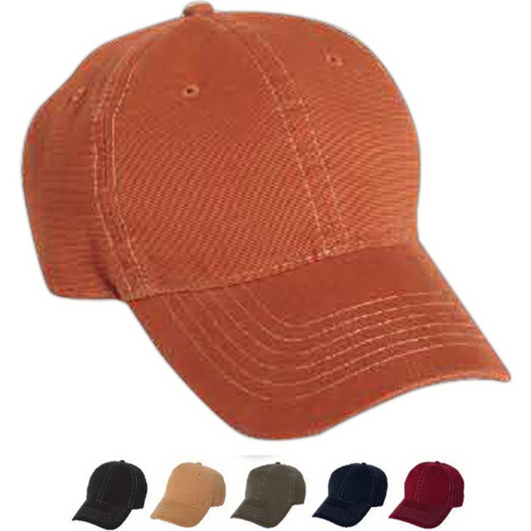 Imprinted Mega Cap Low Profile Deluxe Brushed Cotton Cap