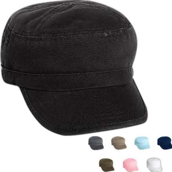 Personalized Mega Cap Enzyme Washed Cotton Twill Army Cap