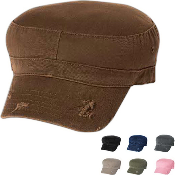 Custom Mega Cap Enzyme Washed Cotton Twill Cap