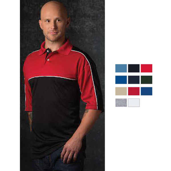 Customized Mens Colorblock Moisture Wicking Sportshirt