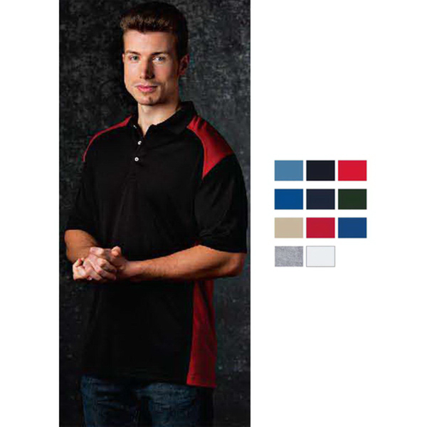 Printed Mens Moisture Wicking Sportshirt