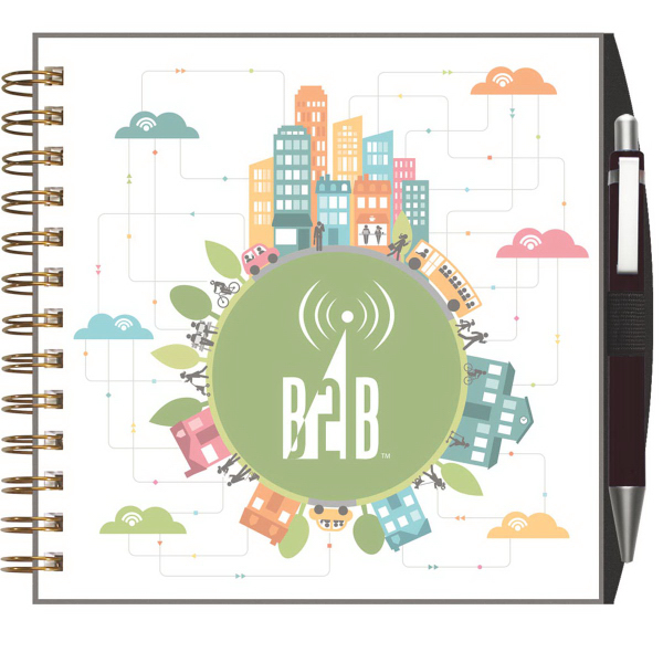 ClearView (TM) Square NoteBook with PenPort and Pen