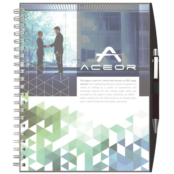 ClearView (TM) Large NoteBook with PenPort and Pen