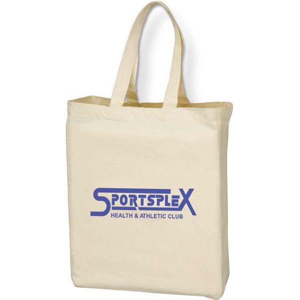 "Customized 20"" Handles Cotton Canvas Tote Bag"