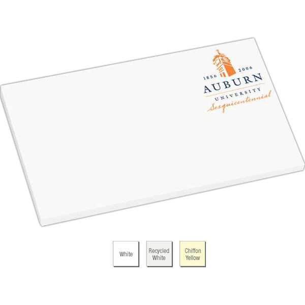 "Custom Earth-Friendly Adhesive Notepad - 5"" x 3"""