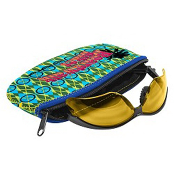 Imprinted L.E.N.S. Large Eyewear Neoprene Storage - Four Color Process