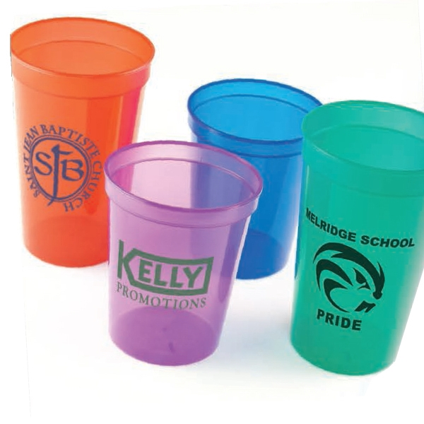 Imprinted 22 oz. Translucent, Smooth Stadium Cup