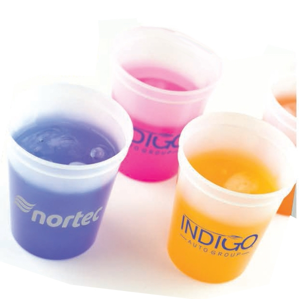 Printed 16 oz. Color Changing Smooth Stadium Cup