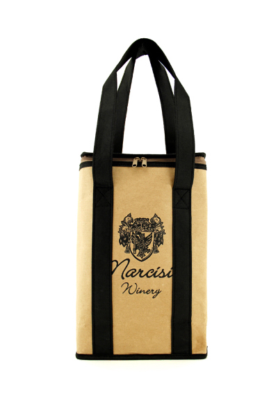 Recycled Kraft Paper Wine Tote