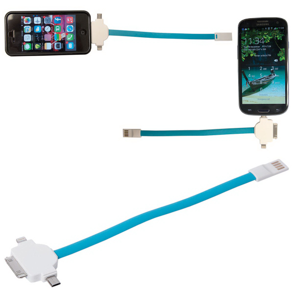 Personalized Connector Captain Silicone 3-in-1 USB Cable