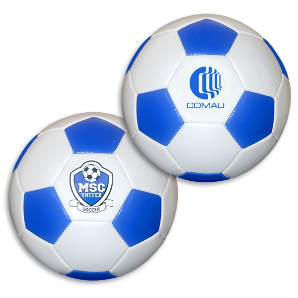 Promotional Regulation Size Blue/White Soccer Ball