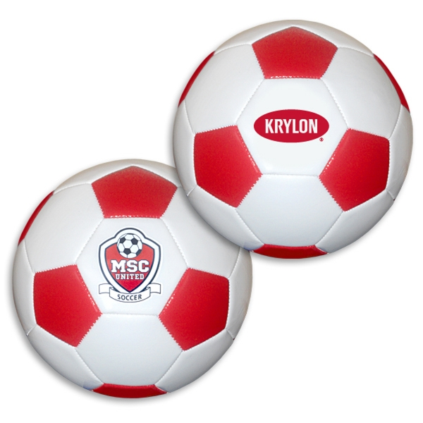 Personalized Regulation Size Red/White Soccer Ball
