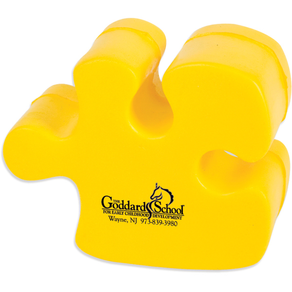 Promotional Puzzle Piece Stress Reliever - Yellow Only