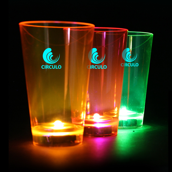 Custom Neon Plastic LED Tumblers - 12 Ounce
