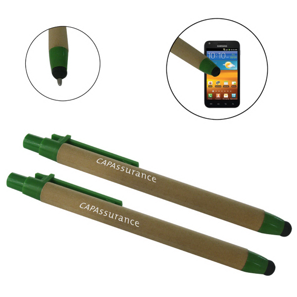 Printed ECO-STYL-Eco-friendly recycled paper stylus pen