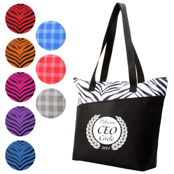Promotional Designer Zipper Tote