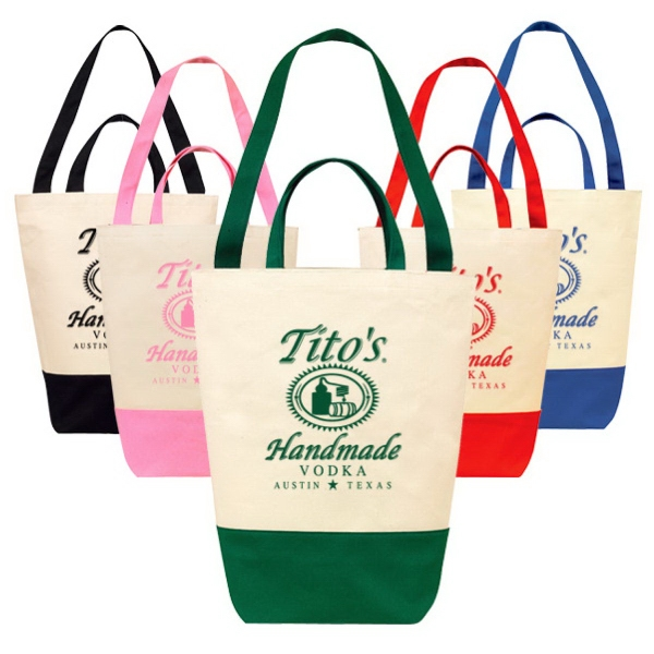 Printed Eco Duel Handle Cotton Shopping Bag