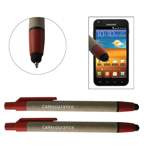 Customized ECO-STYL friendly recycled paper stylus pen