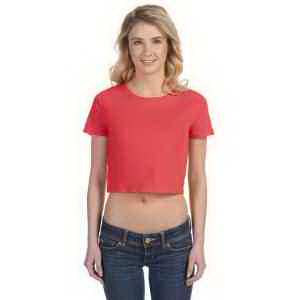 Bella & Canvas Ladies's Poly-Cotton Crop T-Shirt