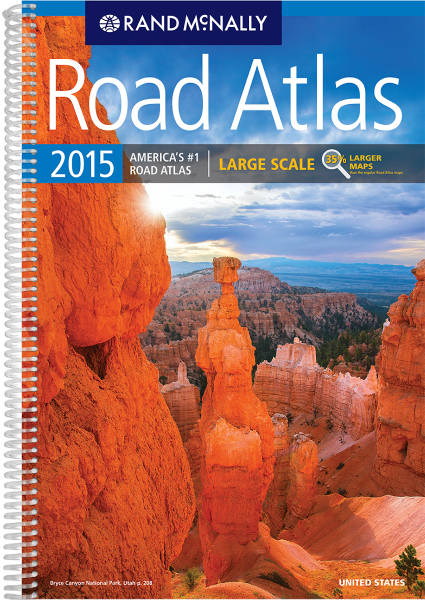 Personalized Rand McNally: Atlases: 2015 ROAD ATLAS LARGE SCALE