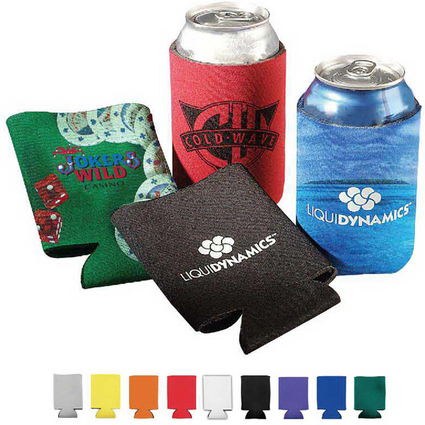 Imprinted Collapsible Can Cooler- 2 Hr Rush