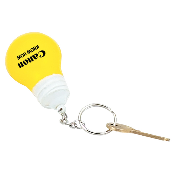 Light Bulb Stress Reliever Key Chain
