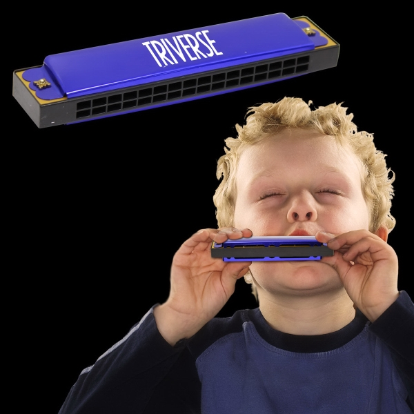 Blue Bee Metal Harmonica