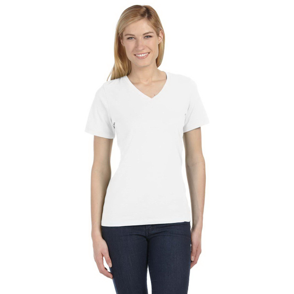 Missy Made in USA Jersey Short-Sleeve V-Neck T-Shirt