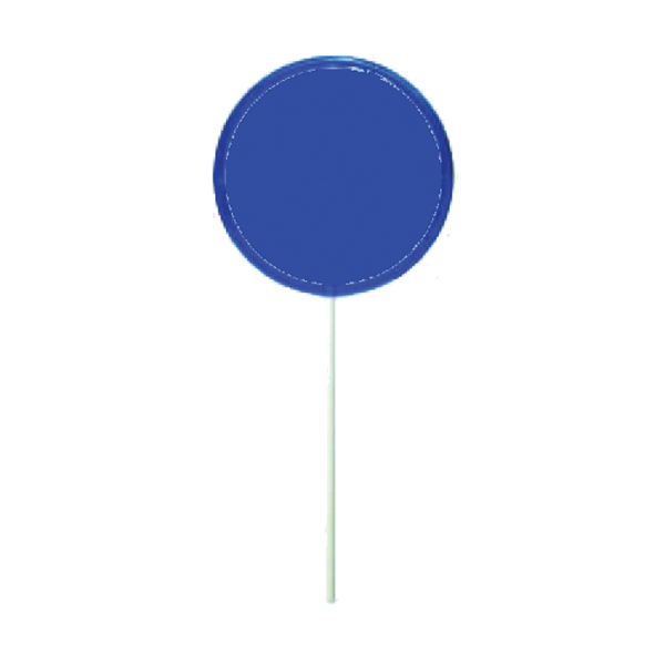 Imprinted Blue Octagon Lollipop