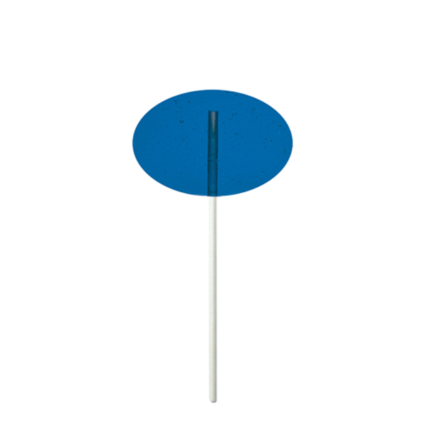 Customized Blue Oval Fun Size Price Buster Lollipop