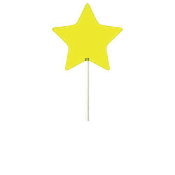 Promotional Yellow Star Lollipop