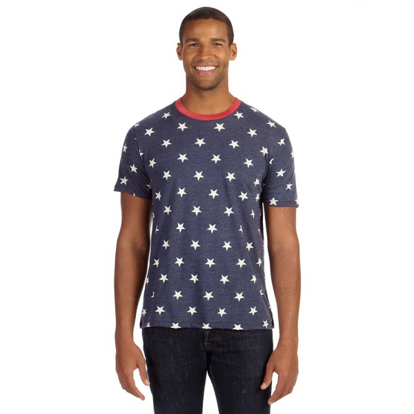Alternative Men's Printed Short-Sleeve Crew