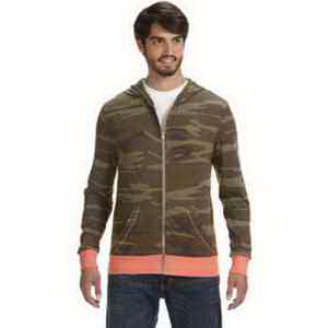 Alternative Men's Eco Long-Slee Printed Zip Hoodie