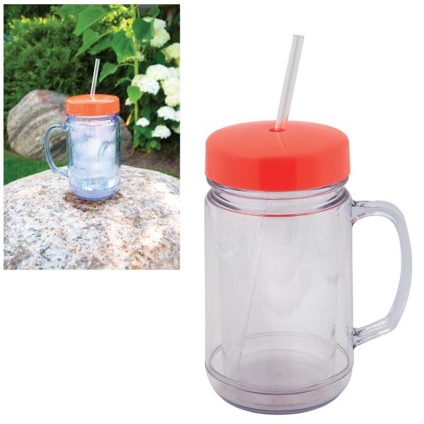 500 ml (16 oz) Mason Jar Shaped Tumbler