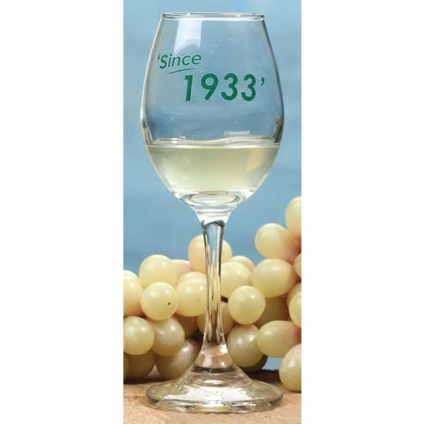 Printed 10.5 oz. Wine Glass