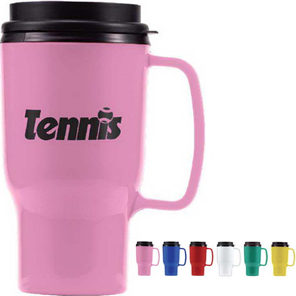 Imprinted 16 oz Plastic Travel Mug 1 Day