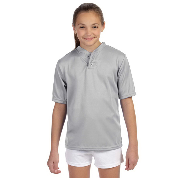Augusta Sportswear (R) Youth Wicking Two-Button