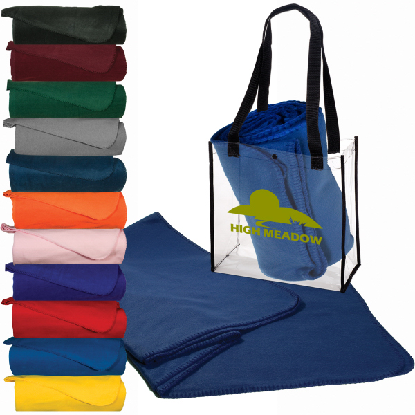 Imprinted Clear Stadium Tote & Econo Blanket Combo