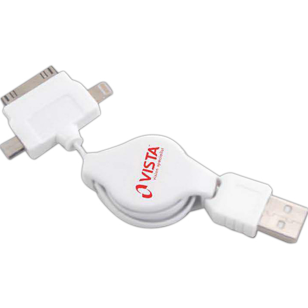 Personalized Quail Retractable USB Cord 2 Hour