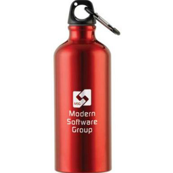 Imprinted 20 oz Aluminum Water Bottle with Caribiner-2 Hour