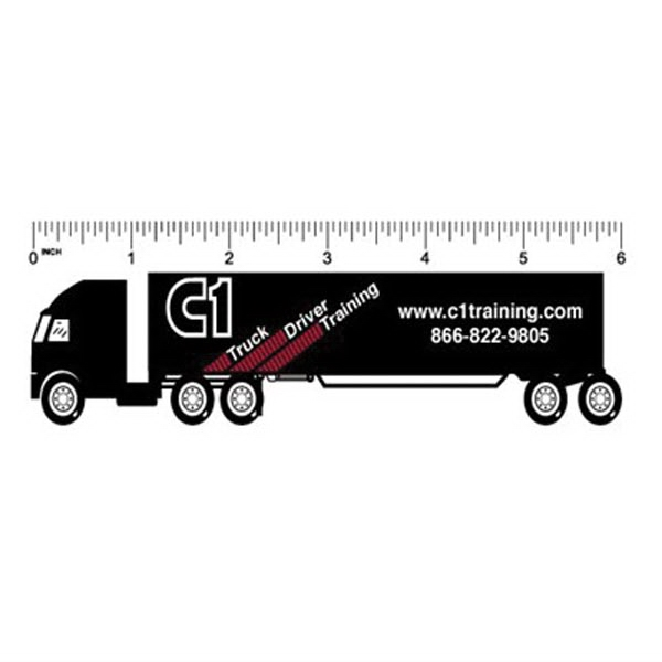 "6"" Plastic Ruler .020 thickness w/full color imprint"
