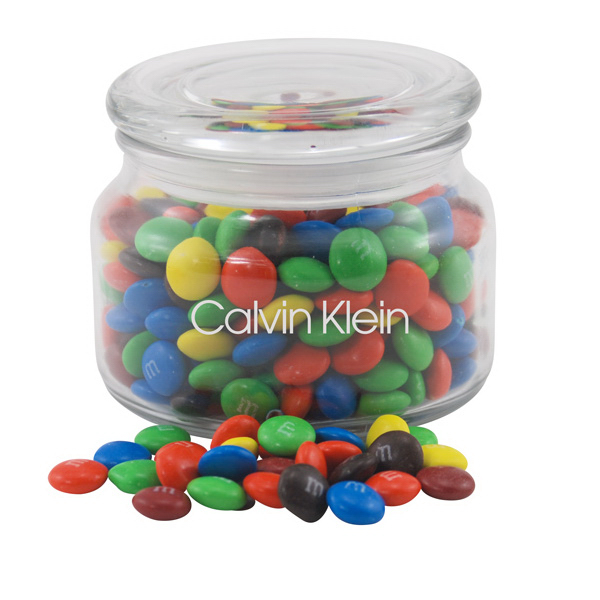 M&M's in a Glass Jar with Lid