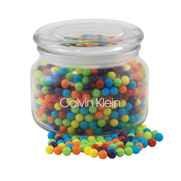 Mini Jawbreakers Candy in a Glass Jar with Lid
