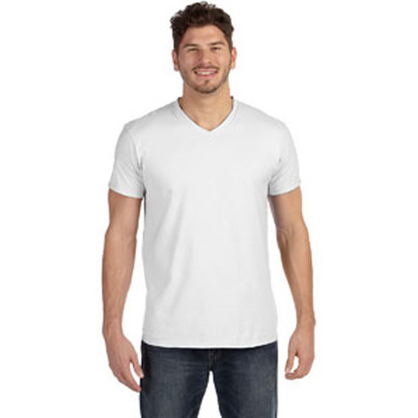 Hanes (R) 4.5 oz, 100% Ringspun Cotton nano-T (R) V-Neck T