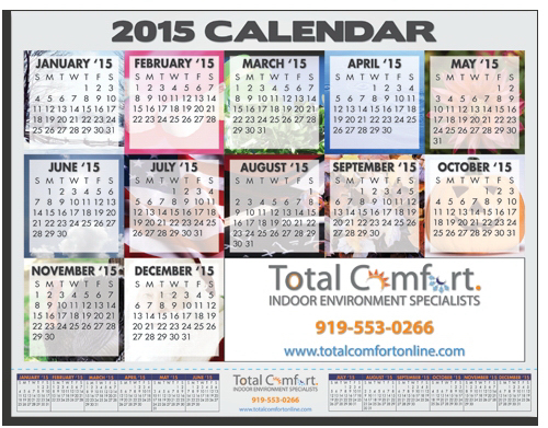 Printed CR-811 Repositionable Multipurpose Calendar
