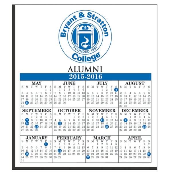 "Imprinted W-122 Calendar Card with Repositionable Strip 3 1/2"" x 4"""