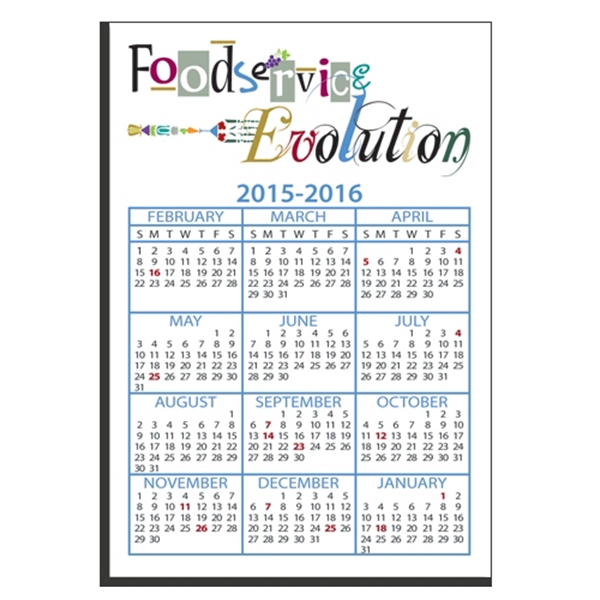 "Personalized W-274R Calendar Card with Repositionable Strip 2 3/4"" x 4"""