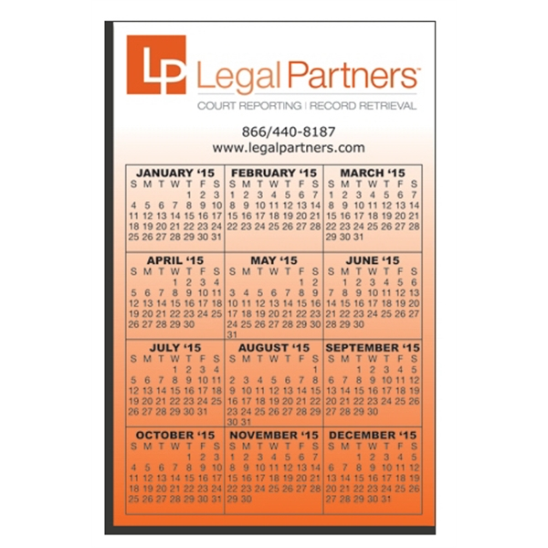 "Promotional W-118R Calendar Card with Repositionable Strip 3.5"" x 5.5"""