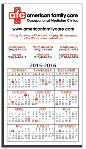"Promotional W-M590 Magnetic Calendar/ Square Corner Magnet 5"" x 9"""